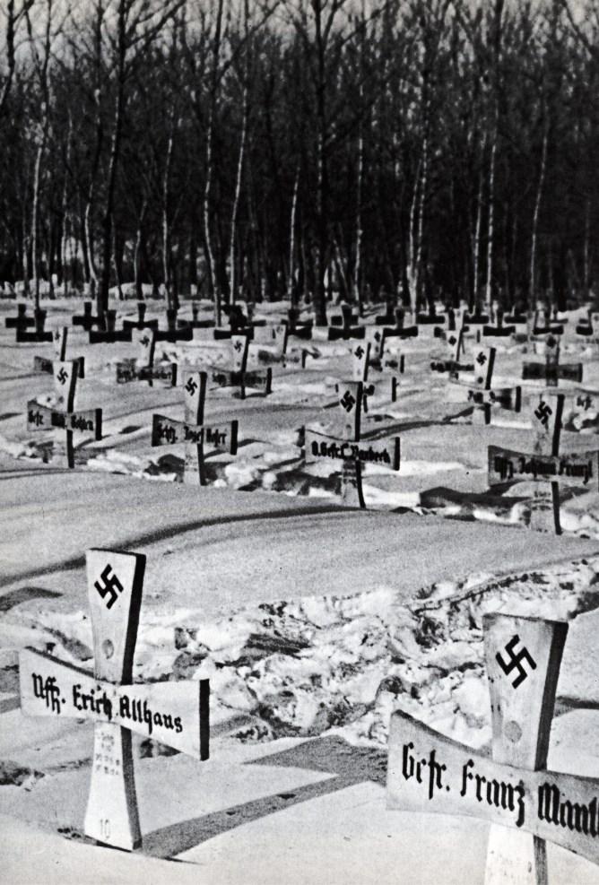 left German graves at Stalingrad