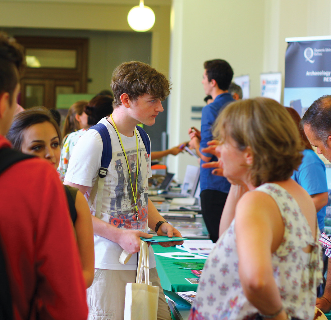 below Many prospective students turned up for the inaugural University Archaeology Day at UCL in June this year.