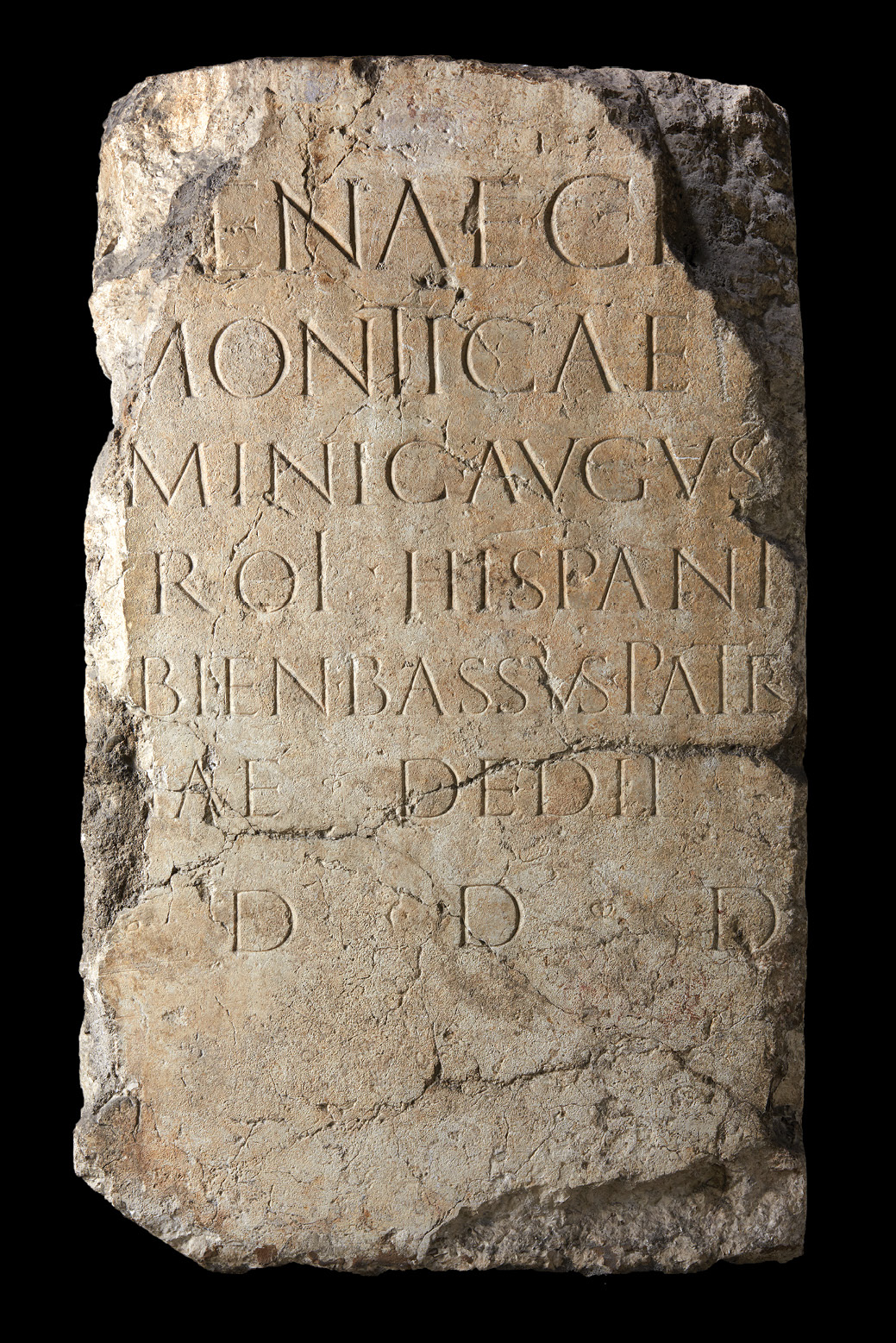 LEFT This inscription, honouring Montica (named in the second line), a priestess of the imperial cult (mentioned in the third line), served as the base for her statue, set up by her proud father.