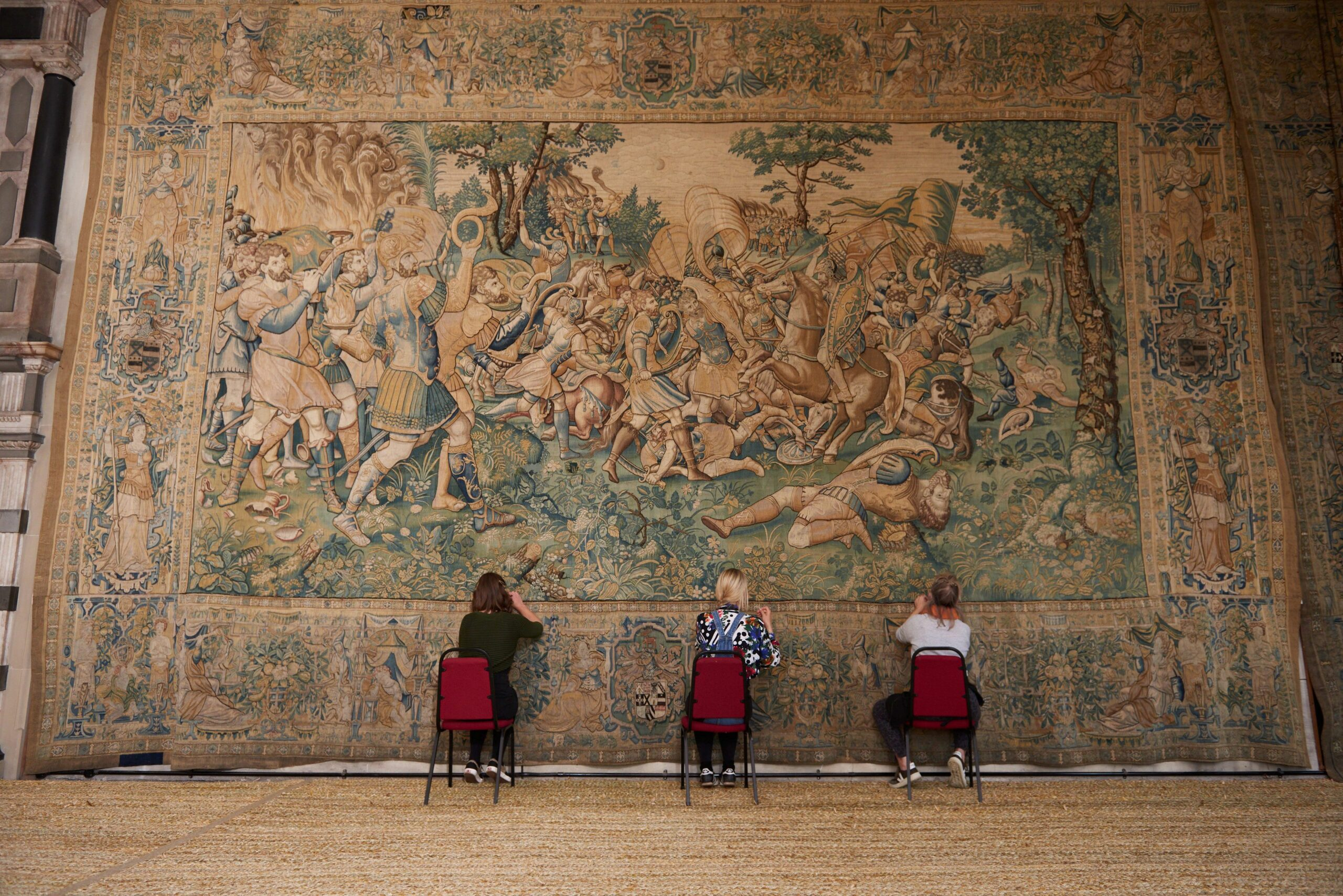 Major conservation work on Hardwick Hall Tudor tapestries nears completion