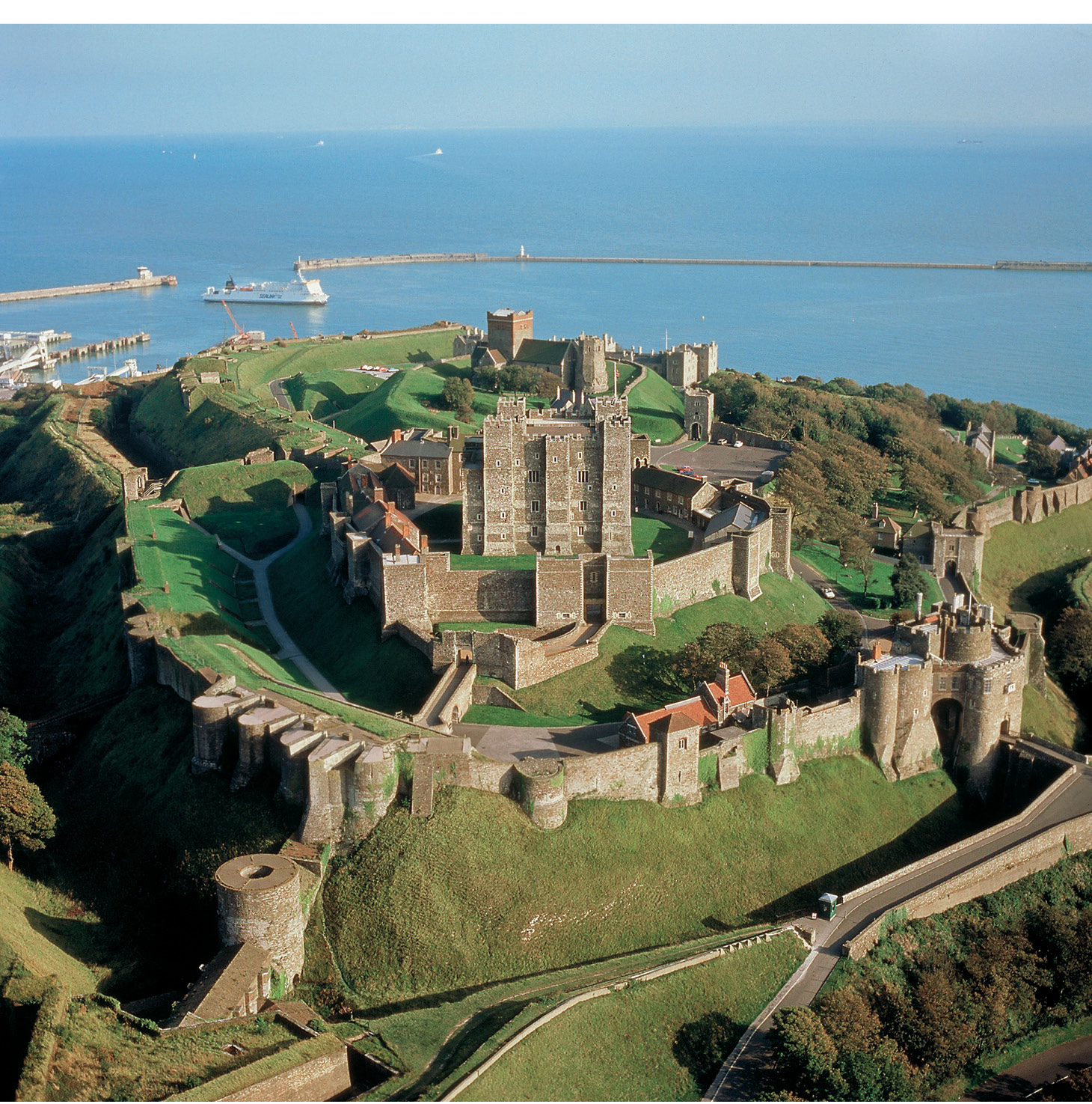 above Dover Castle is an example of colonising the past to stress the continuity of lordship: the clifftop castle incorporates the earthworks of an Iron Age hillfort, a Roman lighthouse, and the Anglo-Saxon church of St Mary in Castro.