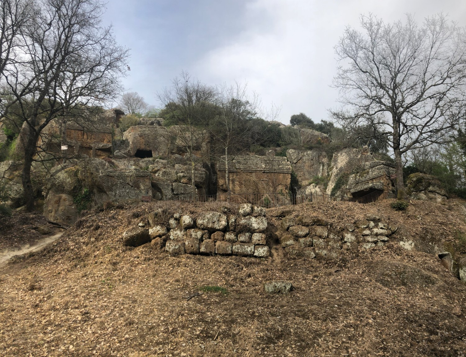 ABOVE A city of the dead: the tombs that form the most striking vestige of the ancient city of Norchia have been captivating visitors for a long time. This Etruscan settlement flourished between the 6th and 5th century BC, but today much of its remains are cloaked in forest.