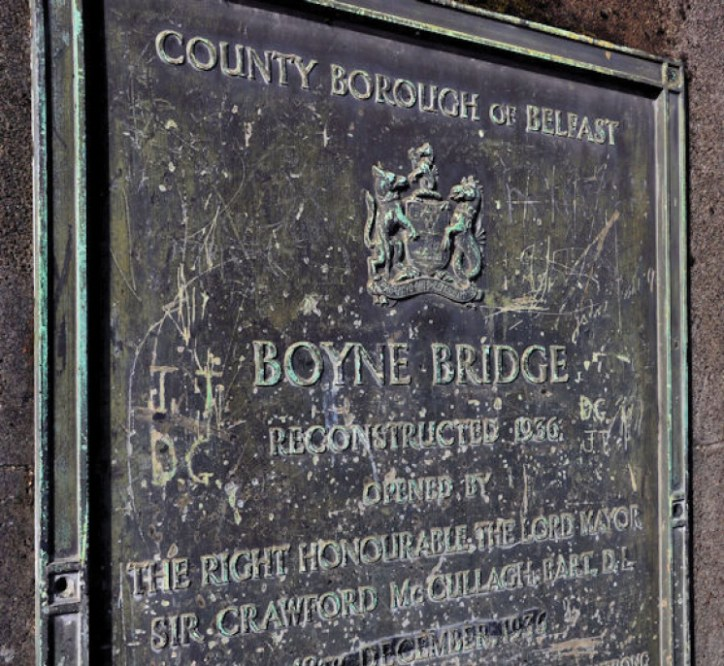 LEFT The 17th-century Boyne Bridge in Belfast was recently revealed encased inside its 20th-century successor.