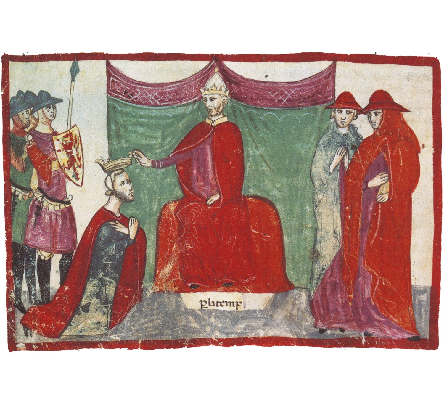 ABOVE This 14th-century fresco shows the Pope making the Norman warlord Robert Guiscard a duke. The Norman conquest of southern Italy and Sicily was no less dramatic a turnaround than their more or less contemporary conquest of England.