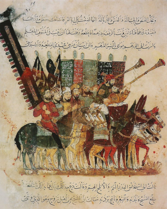 right The Arab way of war was based on mobility, skirmishing, and the 'wearing-out' battle. far right The Norman way of war was based on the shock effect of mounted charges by armoured horsemen.