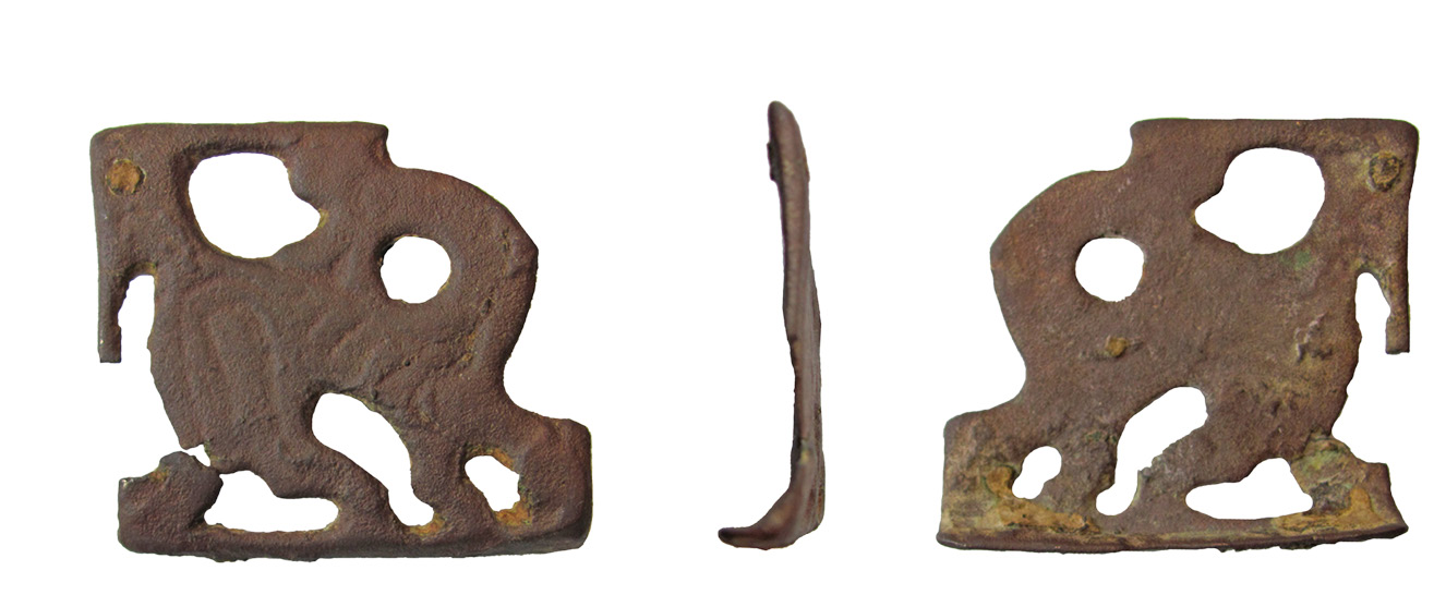 above Might horse equipment with Ringerike-style ornamentation, such as this stirrup strap mount (left), found in hampshire, and bridle fitting (right), found in Kent, reflect a fashion introduced by Cnut's retinue?