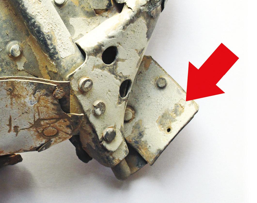 LEFT Werknummer 8784 on fragment of wreckage found in 2000 at Hauptmann Krahl's crash-site near Ħal Far.