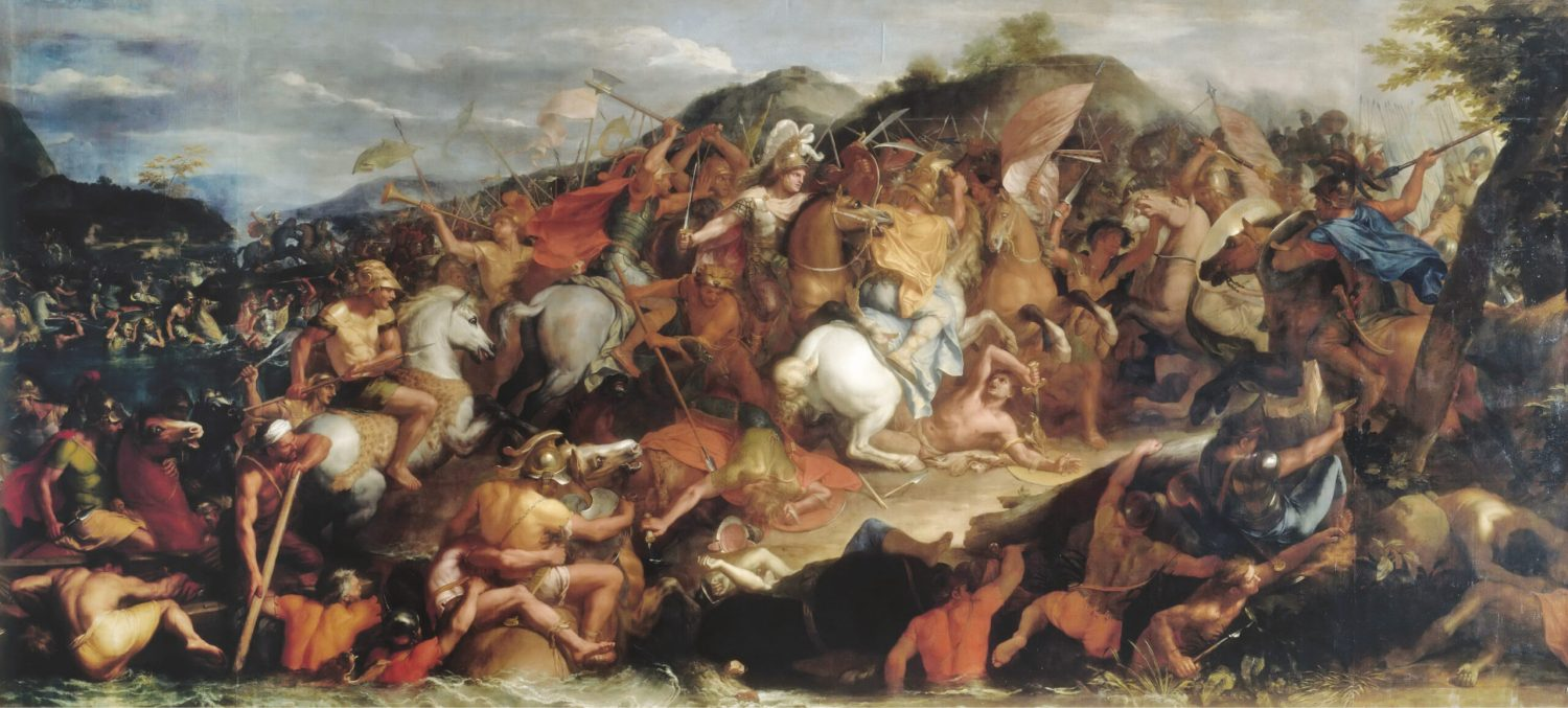 ABOVE Battle of the Granicus, detail from a painting by Charles Le Brun (1619-1690). Although small-scale, the outcome of this battle gives several important clues to the nature of Alexander's leadership.