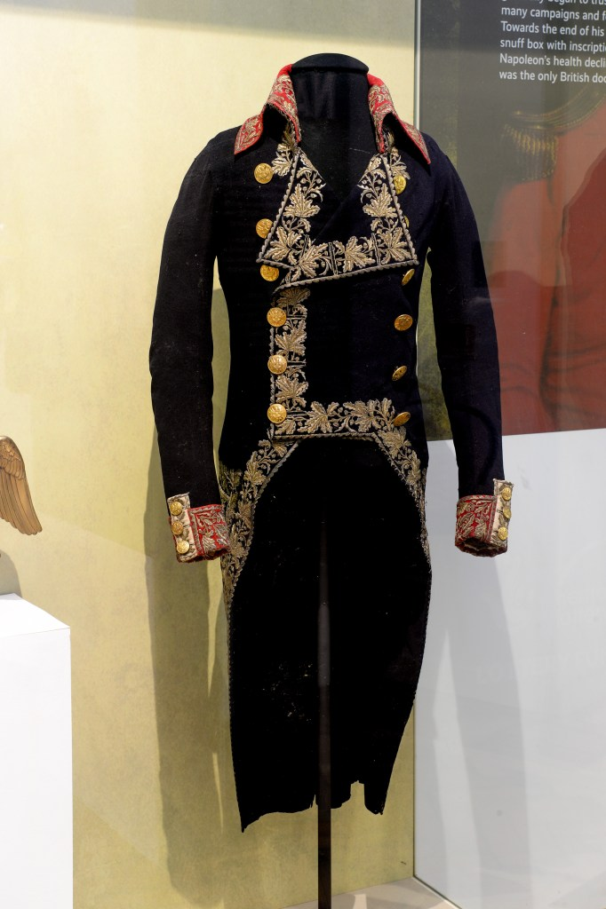The tunic worn by Napoleon Bonaparte at Marengo in 1800. Image: Fusilier Museum.