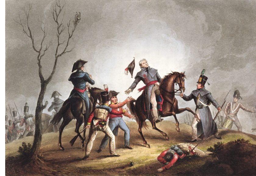 OPPOSITE The death of Sir John Moore at Corunna. Despite Moore being killed, the outcome of the battle put him in the history books.