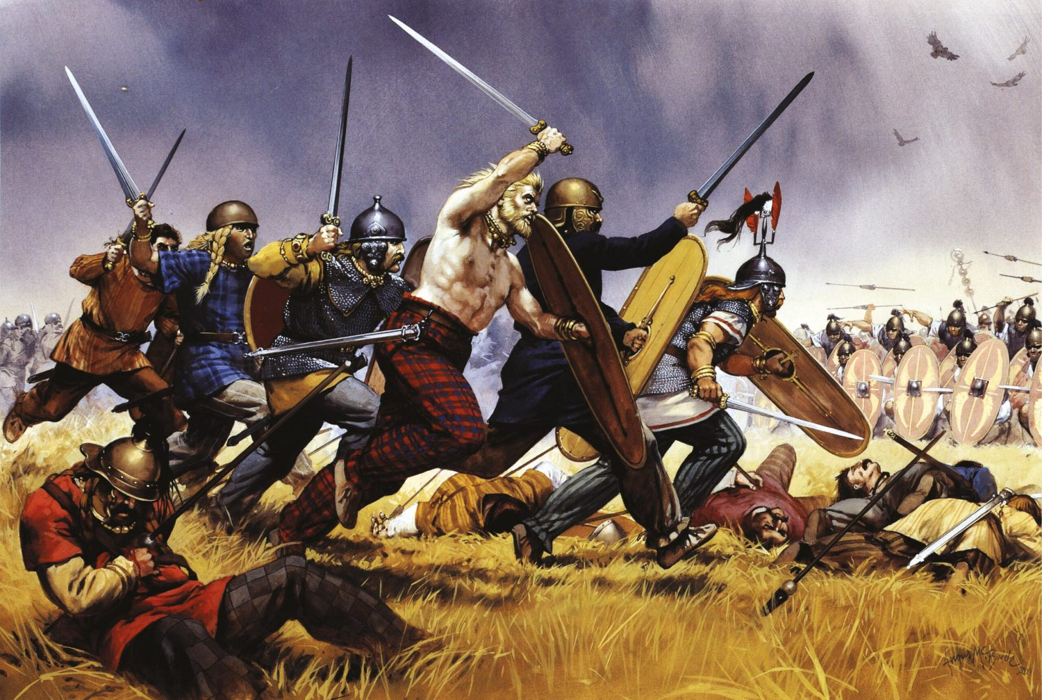 left The Gauls were among the most formidable warriors in Europe. The Romans had been fighting wars with them for well over a century by the time of Caesar's conquest of Transalpine Gaul.