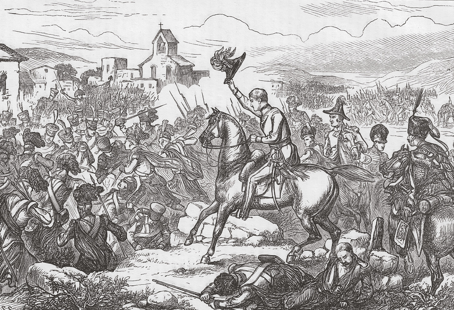 BELOW Moore orders Bentinck's 42nd Black Watch Highlanders forward. They brought the French assault at Elvina to a halt but were left stranded on the battlefield.