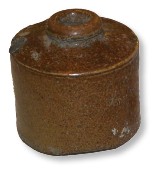 below A rather more recent find from the site: an intact Victorian inkwell.