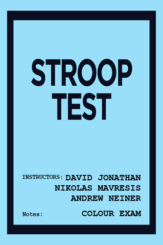 Stroop Test cover