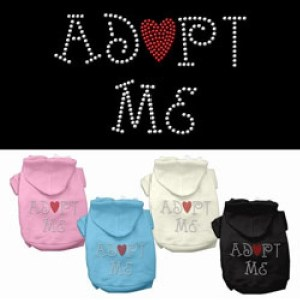 Adopt Me Rhinestone Dog Hoodie | The Pet Boutique