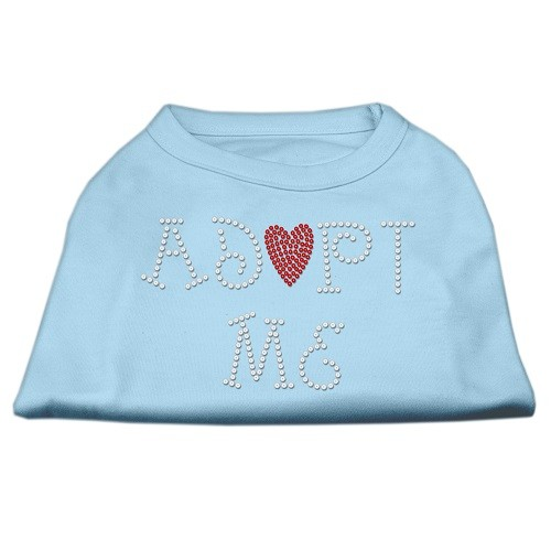 Adopt Me Rhinestone Dog Shirt - Baby Blue | The Pet Boutique