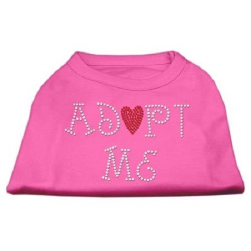Adopt Me Rhinestone Dog Shirt - Bright Pink | The Pet Boutique