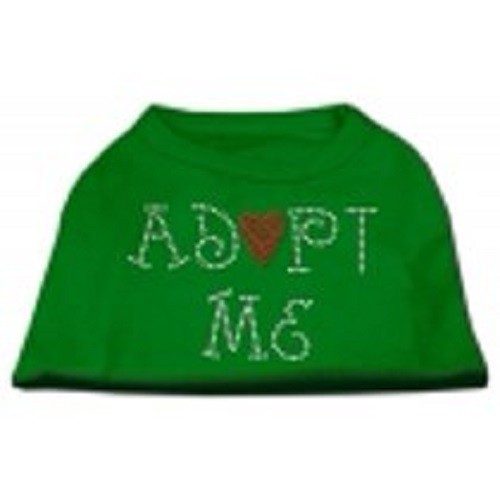 Adopt Me Rhinestone Dog Shirt - Emerald Green | The Pet Boutique