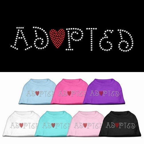 Adopted Rhinestone Dog Shirt | The Pet Boutique