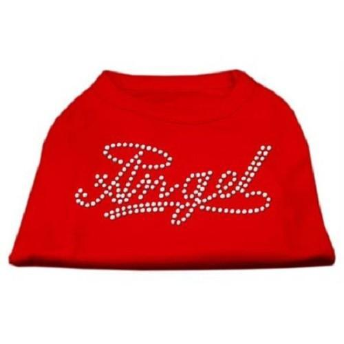 Angel Rhinestud Dog Shirt - Red   The Pet Boutique