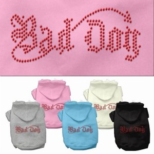 Bad Dog Rhinestone Dog Hoodie | The Pet Boutique
