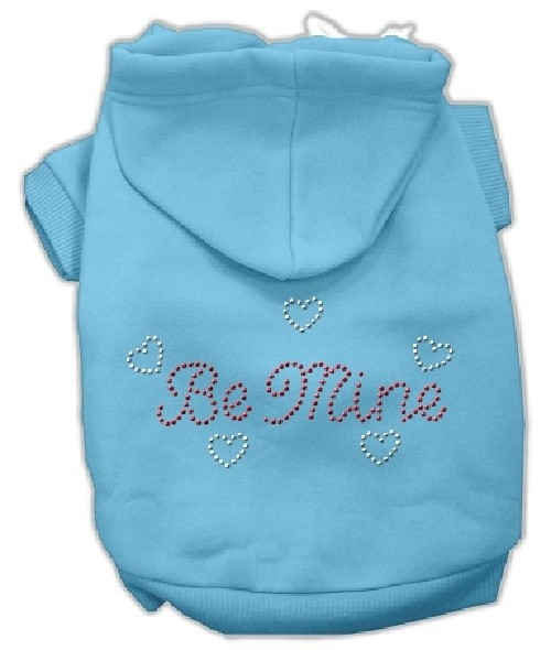 Be Mine Rhinestone Dog Hoodie - Baby Blue | The Pet Boutique