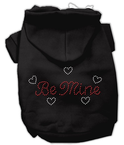 Be Mine Rhinestone Dog Hoodie - Black | The Pet Boutique
