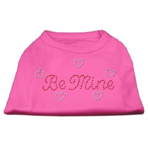 Be Mine Rhinestone Dog Shirt - Bright Pink | The Pet Boutique