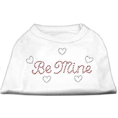 Be Mine Rhinestone Dog Shirt - White | The Pet Boutique