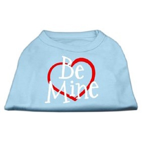 Be Mine Screen Print Dog Shirt - Baby Blue | The Pet Boutique
