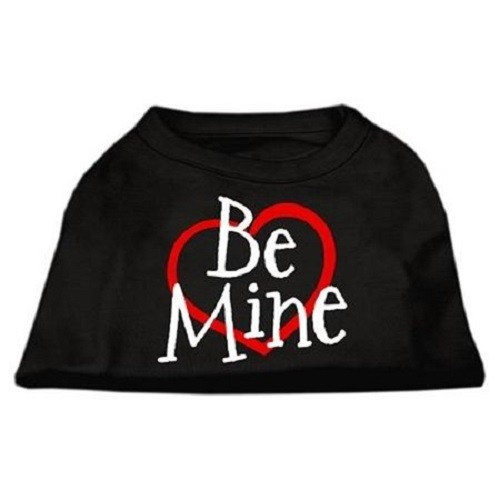 Be Mine Screen Print Dog Shirt - Black | The Pet Boutique