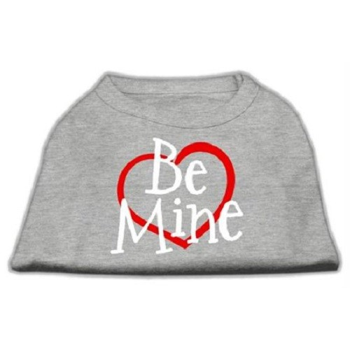 Be Mine Screen Print Dog Shirt - Grey | The Pet Boutique