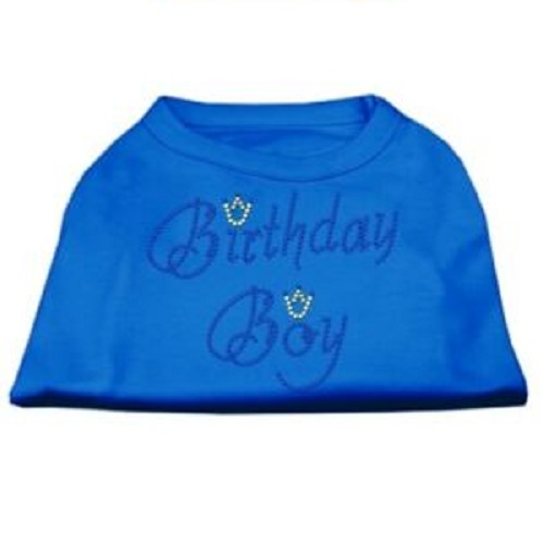 Birthday Boy Rhinestone Dog Shirt - Blue | The Pet Boutique