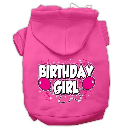 Birthday Girl Screen Print Pet Hoodie - Bright Pink | The Pet Boutique
