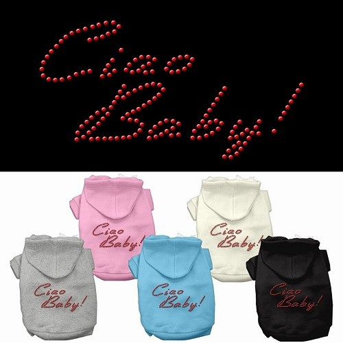 Ciao Baby Rhinestone Dog Hoodie | The Pet Boutique