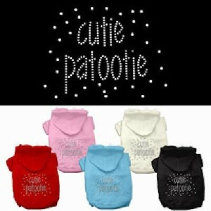 Cutie Patootie Rhinestone Dog Hoodie | The Pet Boutique