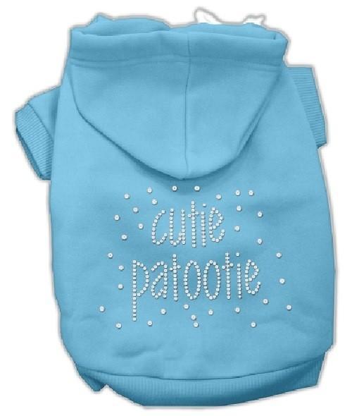 Cutie Patootie Rhinestone Dog Hoodie - Baby Blue | The Pet Boutique