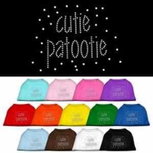 Cutie Patootie Rhinestone Dog Shirt | The Pet Boutique