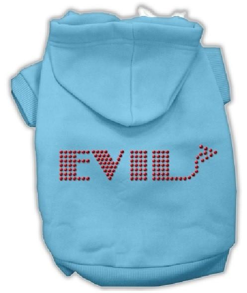 Evil Rhinestone Dog Hoodie - Baby Blue | The Pet Boutique