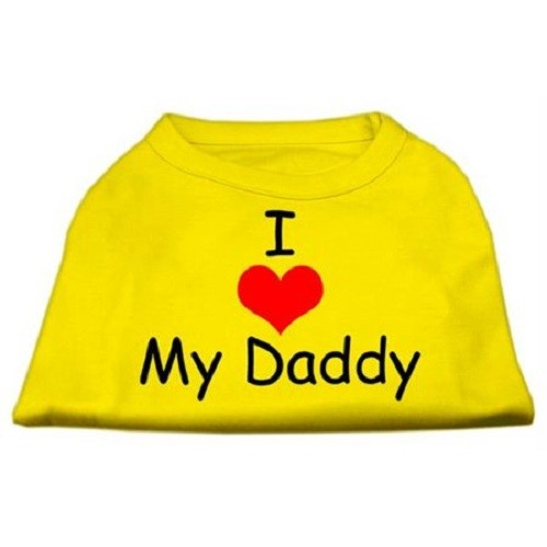 I Love My Daddy Screen Print Dog Shirt - White | The Pet Boutique