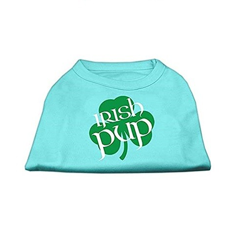 Irish Pup Screen Print Dog Shirt - Aqua | The Pet Boutique