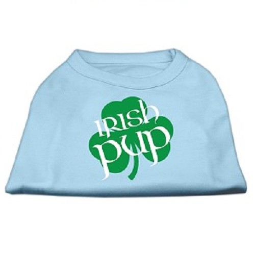 Irish Pup Screen Print Dog Shirt - Baby Blue | The Pet Boutique