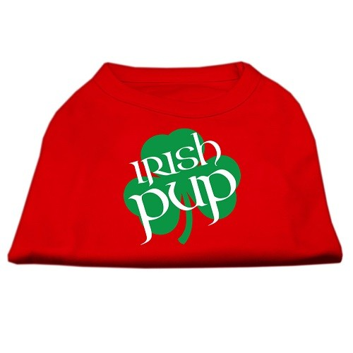 Irish Pup Screen Print Dog Shirt - Red | The Pet Boutique