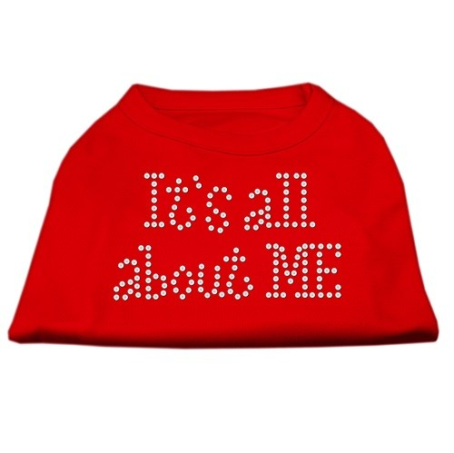 It's All About Me Rhinestone Dog Shirt - Red | The Pet Boutique