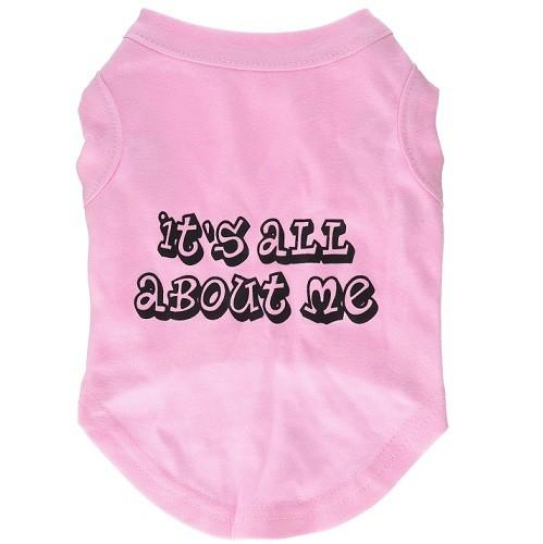It's All About Me Screen Print Dog Shirt - Light Pink | The Pet Boutique