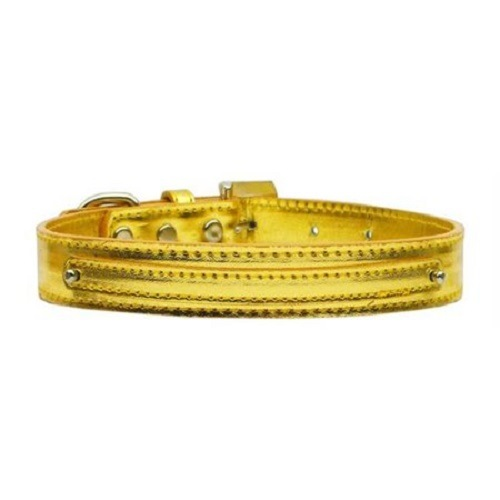 Metallic Two Tier Dog Collar - Gold | The Pet Boutique
