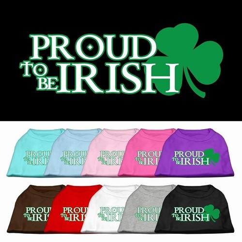 Proud to be Irish Screen Print Dog Shirt | The Pet Boutique