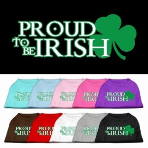 Proud to be Irish Screen Print Dog Shirt | The Pet Boutique