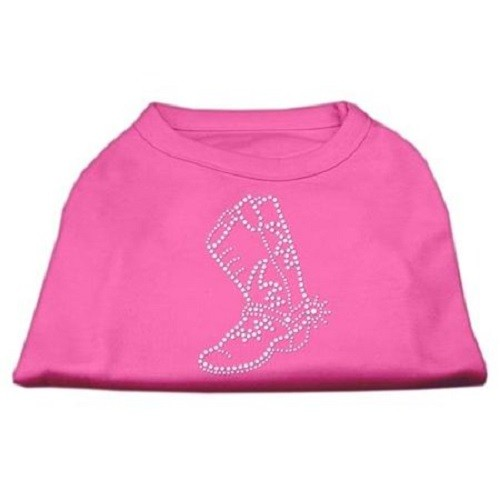Rhinestone Boot Dog Shirt - Bright Pink | The Pet Boutique