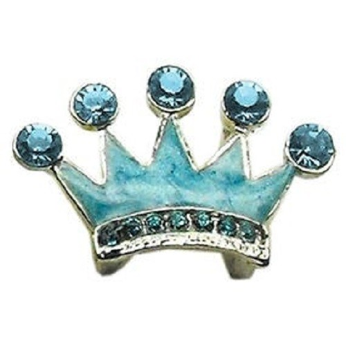Slider Enamel Crown Collar Charm - Turquoise | The Pet Boutique
